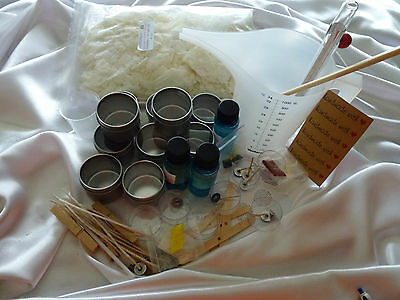 Soy wax 8 x2oz/60gr Silver Travel Tin Soy Wax Kit all you need for candle making
