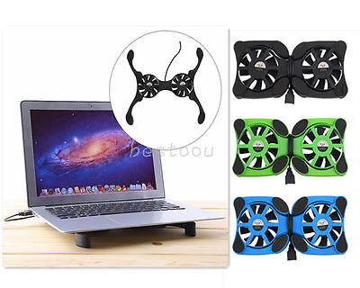 """USB Foldable Folding Octopus Notebook Fan Cooler Cooling Pad For 7-15"""" Laptop I5"""
