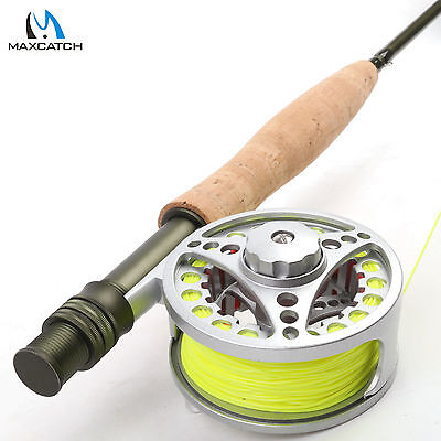 Fly Rod And Reel Combo 5WT Fly Rod Medium Fast Fly Fishing Rod & Fly Reel & Line