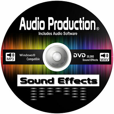 30,000 Digital Sound Effects DVD CD DJ Mixing Music Editing Recording Software