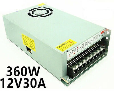12 Volt 30 Amp 12V 30A 360W AC-DC Switching Power Supply for LCD Monitor CE FCC