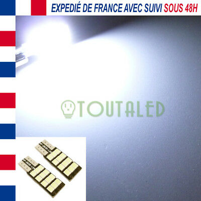 2X Ampoule Lampe 12V T10 W5W Plate 12 Led 2835 Blanc Froid Plafonnier Tuning