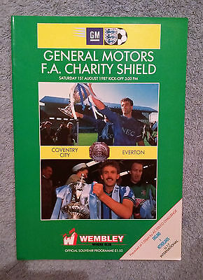 1987 - CHARITY SHIELD PROGRAMME - COVENTRY CITY v EVERTON - Great Condition