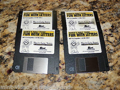 Mario's Early Years Fun with Letters (PC, 1993) 3.5 floppy disks