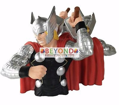 Marvel Superhero Incredible Thor Bust Bank Piggy 3D Toy Figure Coin Bank