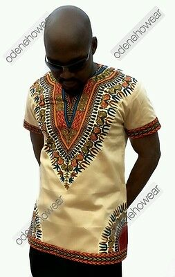 Odeneho Wear Men's Polished Cotton Top/ Dashiki Design. African Clothing