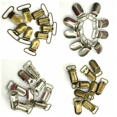 10PCS Paci Pacifier Suspender Clips Holder Webbing Hook Ribbon 10/15/20/25/30mm