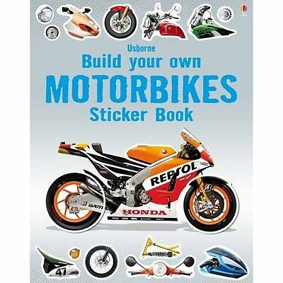 Build Your Own Motorbikes Sticker Book Tudhope Fox Usborne Paperb. 9781409581406