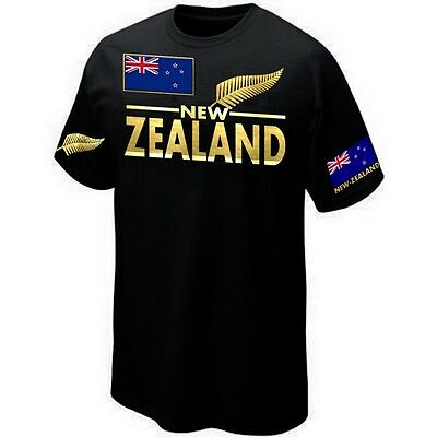 T-Shirt NEW-ZEALAND RUGBY SUPPORTER ALL BLACKS - Maillot Sérigraphié