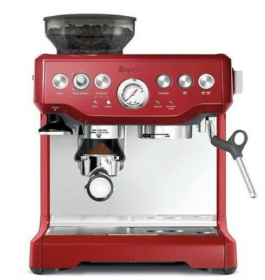Breville BES870CRN the Barista Express™ Coffee Machine - Cranberry - RRP $899.00