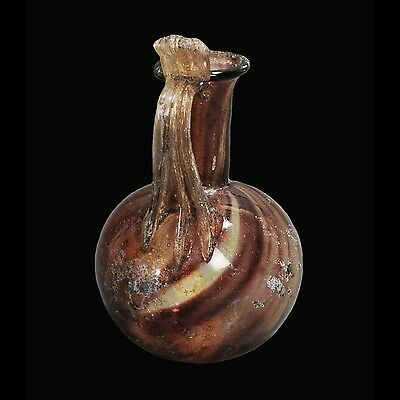 Aphrodite- Ancient Roman  Glass Jug With Thumb Rest Handle
