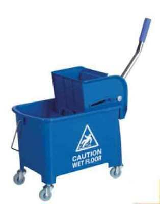 Professional 20L Kentucky Mop Bucket Wringer Cleaning Mopping Yellow Blue Red