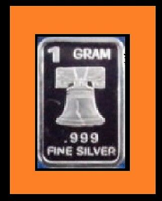 New 1 gm. Whason Mint .999 silver bar -  The Liberty Bell  ++ ADD-ONs available!
