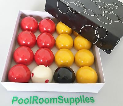 """CASINO Pool Snooker Billiard BALLS 2"""" inch With 2"""" Measle White Training Set"""