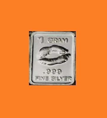 New 1 gm. Whason Mint .999 silver bar -  The Lips  ++ ADD-ONs available!