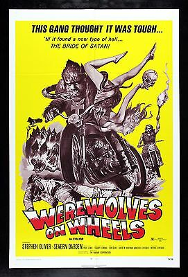 WEREWOLVES ON WHEELS CineMasterpieces 1971 BIKER MOTORCYCLE MOVIE POSTER HORROR