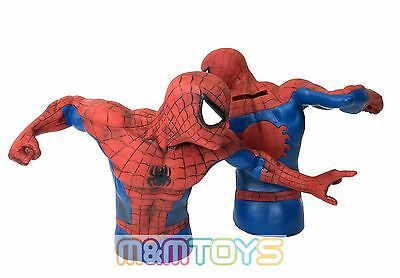 Marvel Amazing Spider-Man Bust Bank Piggy 3D Toy Figure Coin Bank