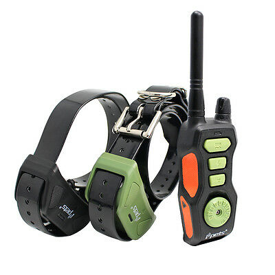 iPets Waterproof Rechargeable 2 Dog Training Collar Remote Shock Collar,880 Yard