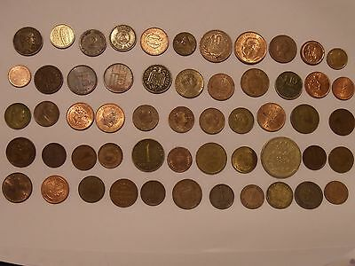 Cool Lot Of 55  Foreign / World Coins!
