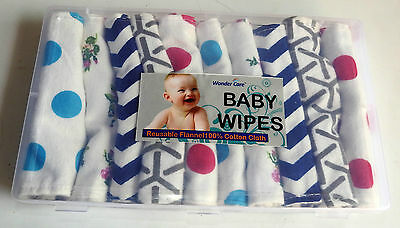 12 Double Layer Cotton Flannel New born baby girl boy burp Cloth Diaper Wipes