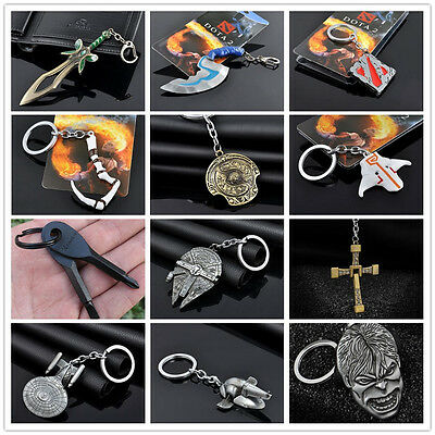 Hot Unique Japan Anime Logo Charm Keychain Keyring Cosplay Jewelry 41 Designs