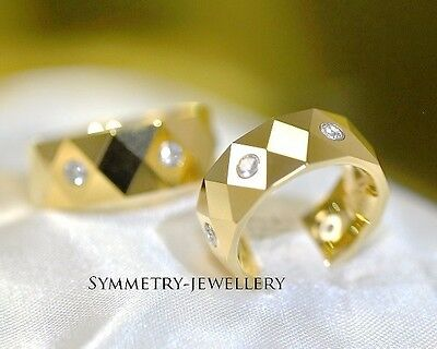 Fine2 Bands Tungsten with 18K Gold Engagement Anniversary Bands