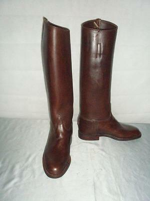 ***mens Size Nine Brown Leather Riding Boots ***