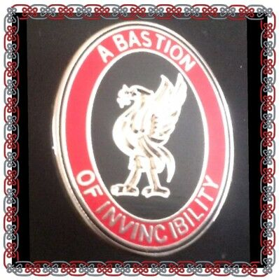 Liverpool Pin Badge - Bill Shankly famous saying 'A Bastion Of Invincibility'
