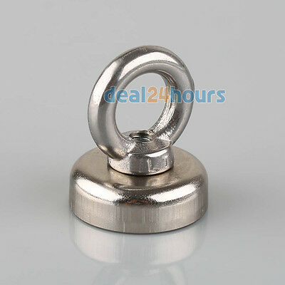 N52 Neodymium Eyebolt Strong Rings Magnet 25x30mm Circular Iron For 14KG Salvage