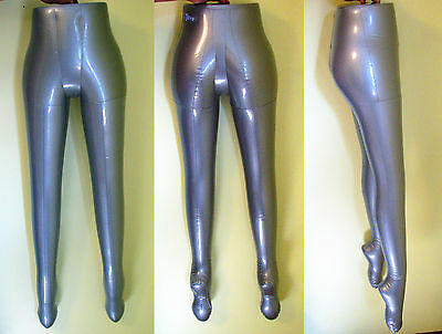 Silver Inflatable Women Female  Mannequin Half  Body Legs Form