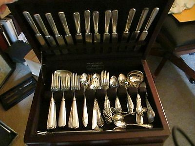 92 Piece Vintage Flatware, Silver Plate, Mixed Lot w/Chest