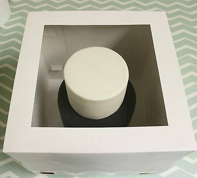 "Pack of 5 x10"" Tall Cake Boxes- Tiered stacked cakes Giant Cupcakes Clear Window"