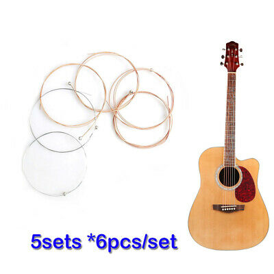 6Pcs Acoustic Guitar Strings Set Alloy Steel String Learner Practicing 150XL 010