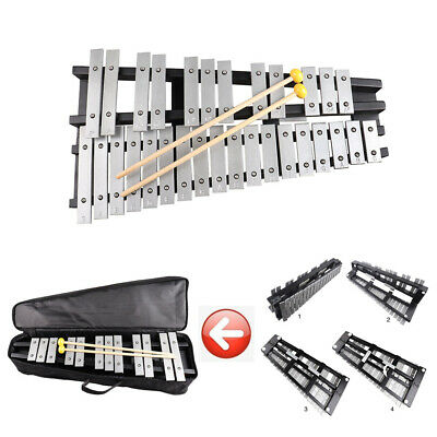 30 Key Xylophone Foldable Glockenspiel Vibraphone Percussion Keyboard & Mallets