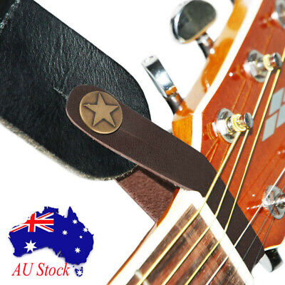 Genuine Leather Guitar Strap Button Hook for Acoustic/Fol / Classic Guitar Brown
