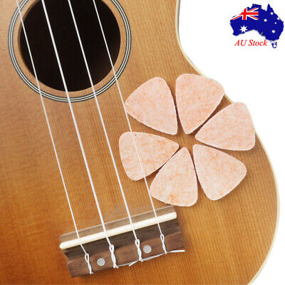 6 Pack Felt Picks Ukulele Stiff Felt Plectrums Mellow Tones 3 mm Thickness New