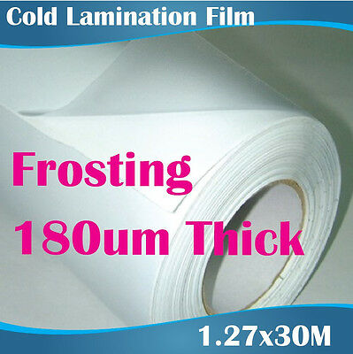 Frosting 180um Thick Cold Lamination Film Overlaminating film roll 1.27x30M