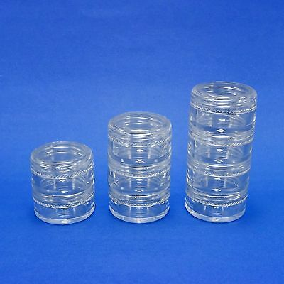 Clear Makeup Stackable Plastic Jar 5 gr Cosmetic Storage Containers Minerals New