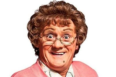 Mrs Brown Glasses Curly Wig fancy dress Mrs Browns Boys