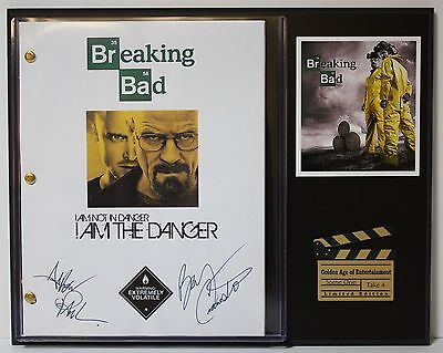 Breaking Bad - Autographed Reprint Hollywood Script Display - Free USA Shipping