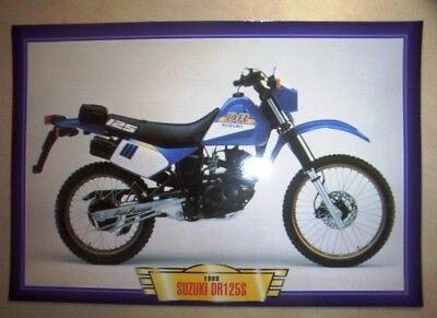 Suzuki Dr125S Dr125 S Vintage Classic Motorcycle Dirt Bike 1980's Picture 1989