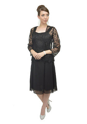 Short Mother of the Bride Dress with Jacket Plus Size Formal Cocktail Church