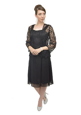 TheDressOutlet Mother of the Bride Dress with Jacket Plus Size Cocktail Church