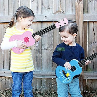 Kids Gift 4 String Children's Acoustic Guitar 17'' Wood Simulation Musical Toys