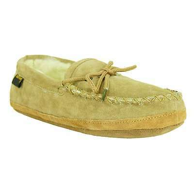 00dfde4d096b8 Old Friend Footwear Mens Genuine Sheepskin Softsole Loafer Moccasin Slipper