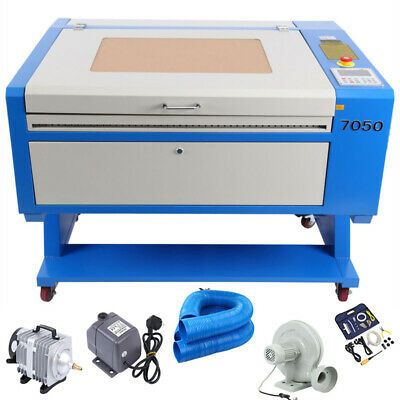 60W CO2 USB Port Laser Engraving Cutter Machine Engraver 700x500mm w/ Water Pump