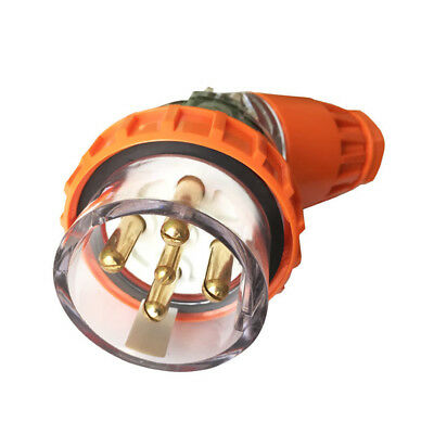 Angle Plug Male 5Pin 32A 500V 3Phase IP66 Water Proof Indust. Marine CE 13001008