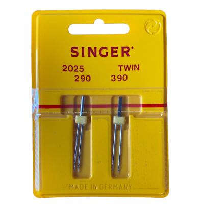 Singer Twin Sewing Machine Needles x 2 (2mm + 3mm, Size 90) -BUY 2, GET 3rd FREE