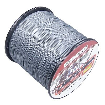 100% PE Top Quality Dyneema Spectra Braid Fishing Line 300M 500M 1000M Grey # GR