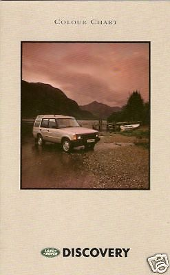Land Rover Discovery Colour & Trim 1990-92 UK Market Mulitlingual Brochure